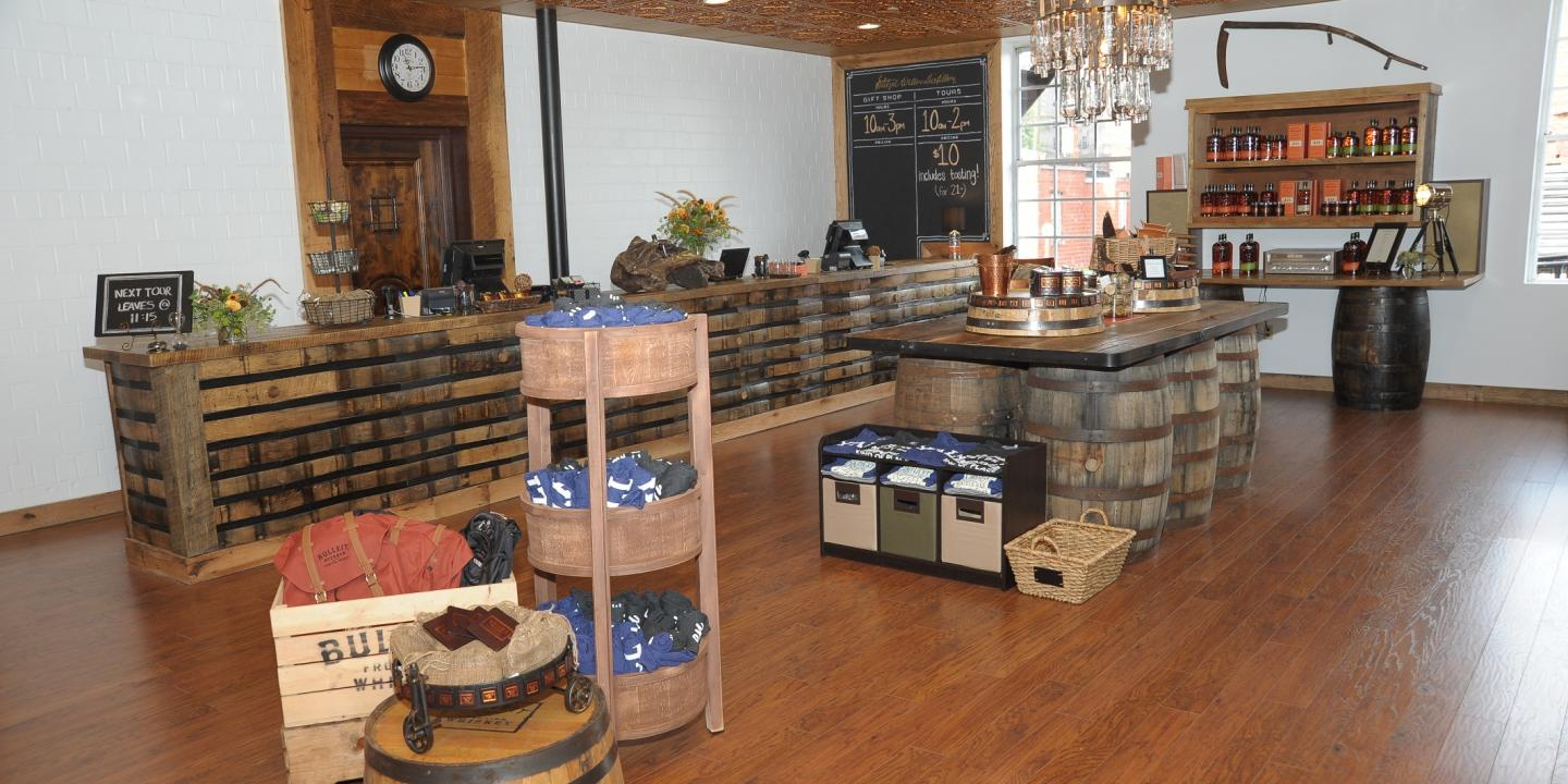 Gift Shop at Bulleit Frontier Whiskey Experience at Stitzel-Weller