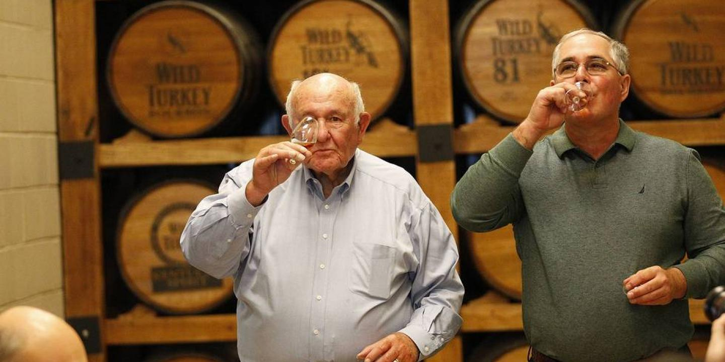 Jimmy and Eddie Russell Tasting Wild Turkey Whiskey